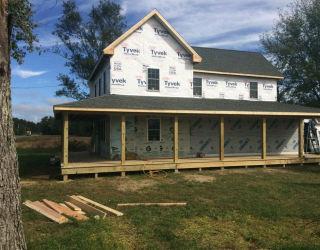 house ready for siding installation