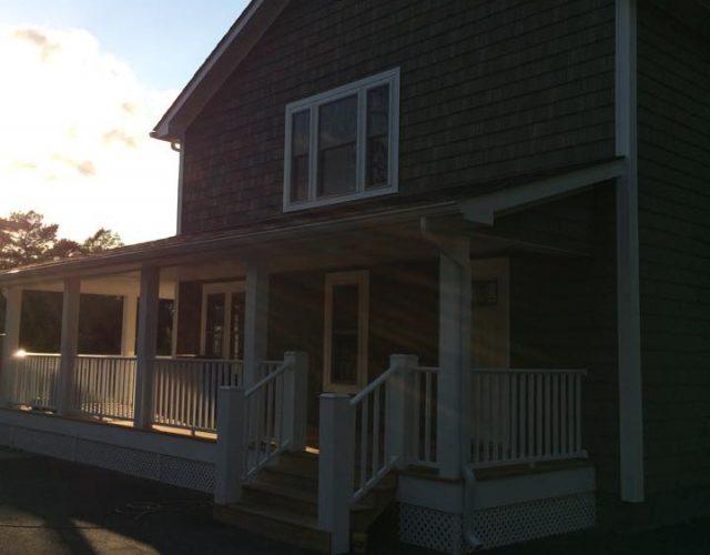 house with new certainteed vinyl cedar siding