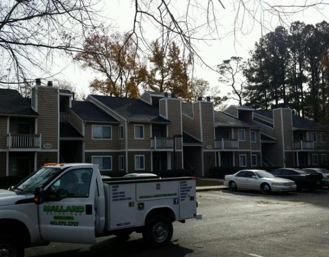 new tamko shingle roof on apartment complex in maryland