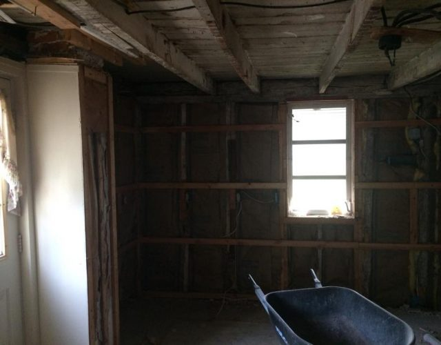 interior shot of gutted home in salisbury md