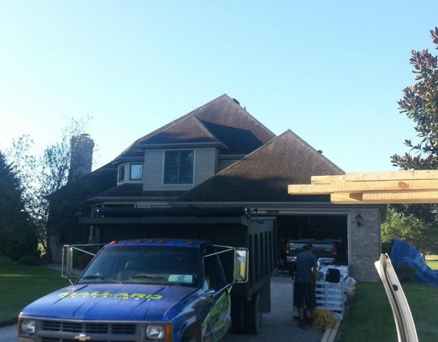 last day of installation on new shingle roof