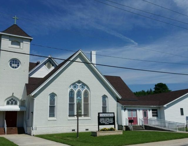 newly completed shingle roof on church in berlin, maryland