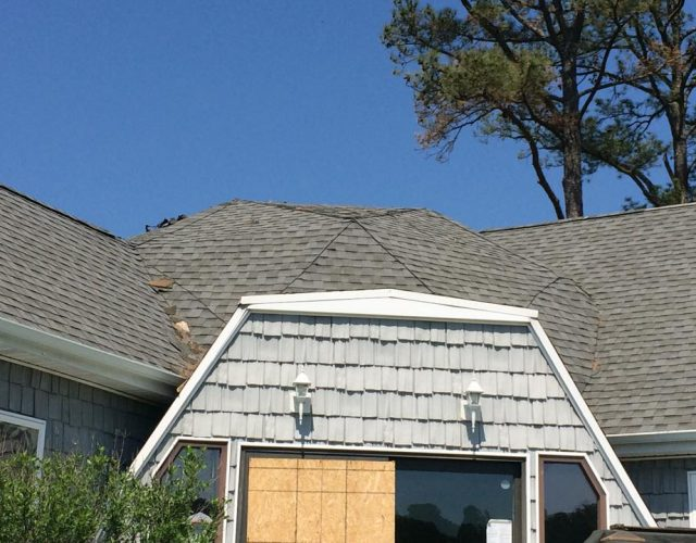 completed GAF architectural shingle roof