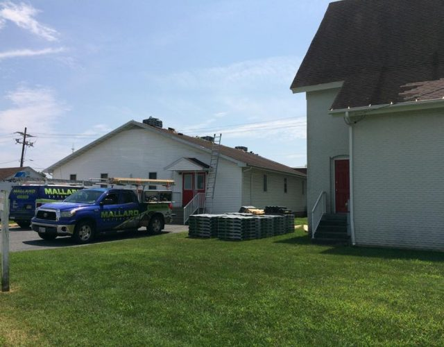 church getting shingles removed in berlin maryland