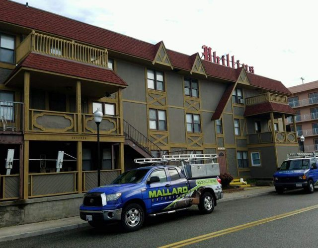 Adding James Hardie siding to a commercial apartment complex.