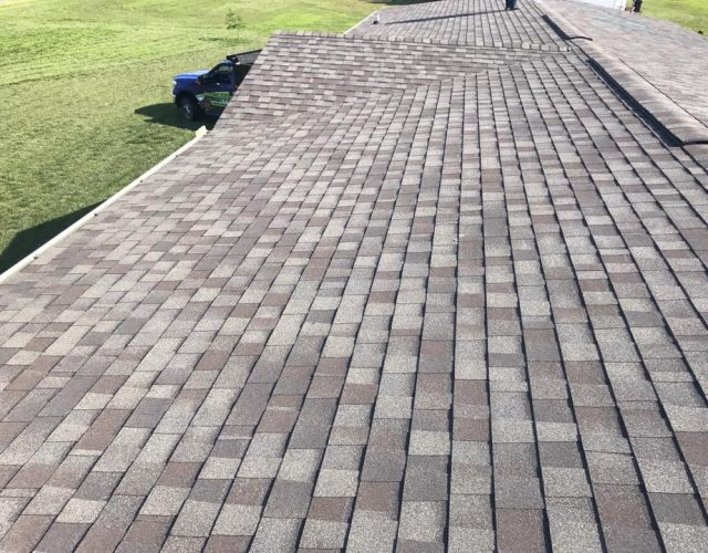 close up of installed certaineed architectural shingle roof